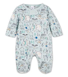 Baby-Microfleece-Schlafanzug in der Farbe mintgrün bei C&A