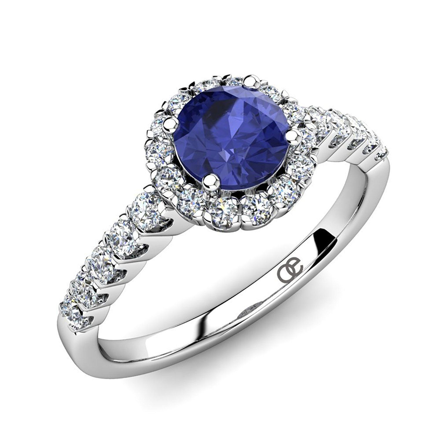 blue gold fullxfull engagement floral bands il deco wedding anniversary diamond natural vs ring white gemstone rings band tanzanite