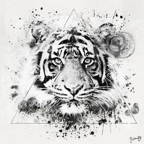 524120b30 50 Really Amazing Tiger Tattoos For Men And Women | decals | Tiger ...