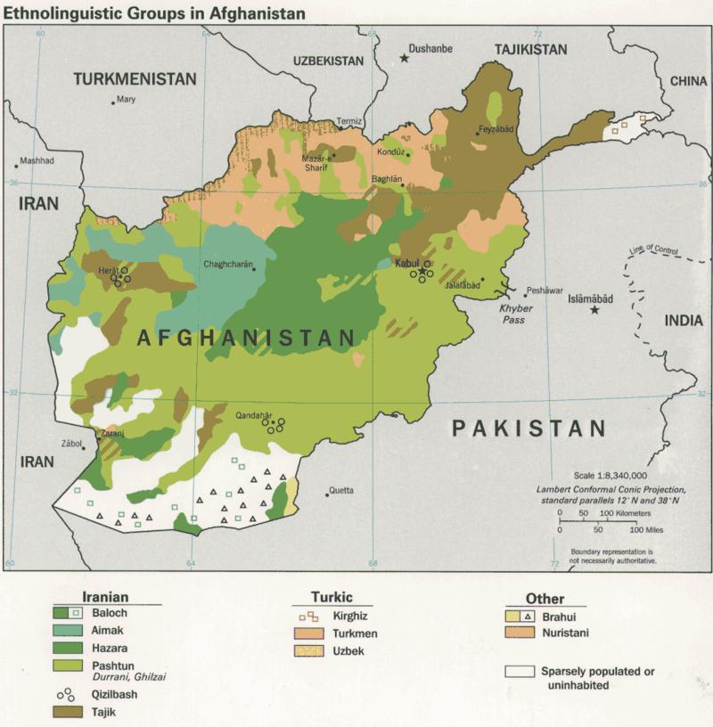 Ethnolinguistic Groups in Afghanistan - Afganistan – Wikipedia