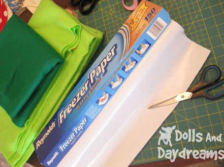 * Dolls And Daydreams - Doll And Softie PDF Sewing Patterns: How To Use Freezer Paper to Cut Out Doll and Toy Sewing Patterns