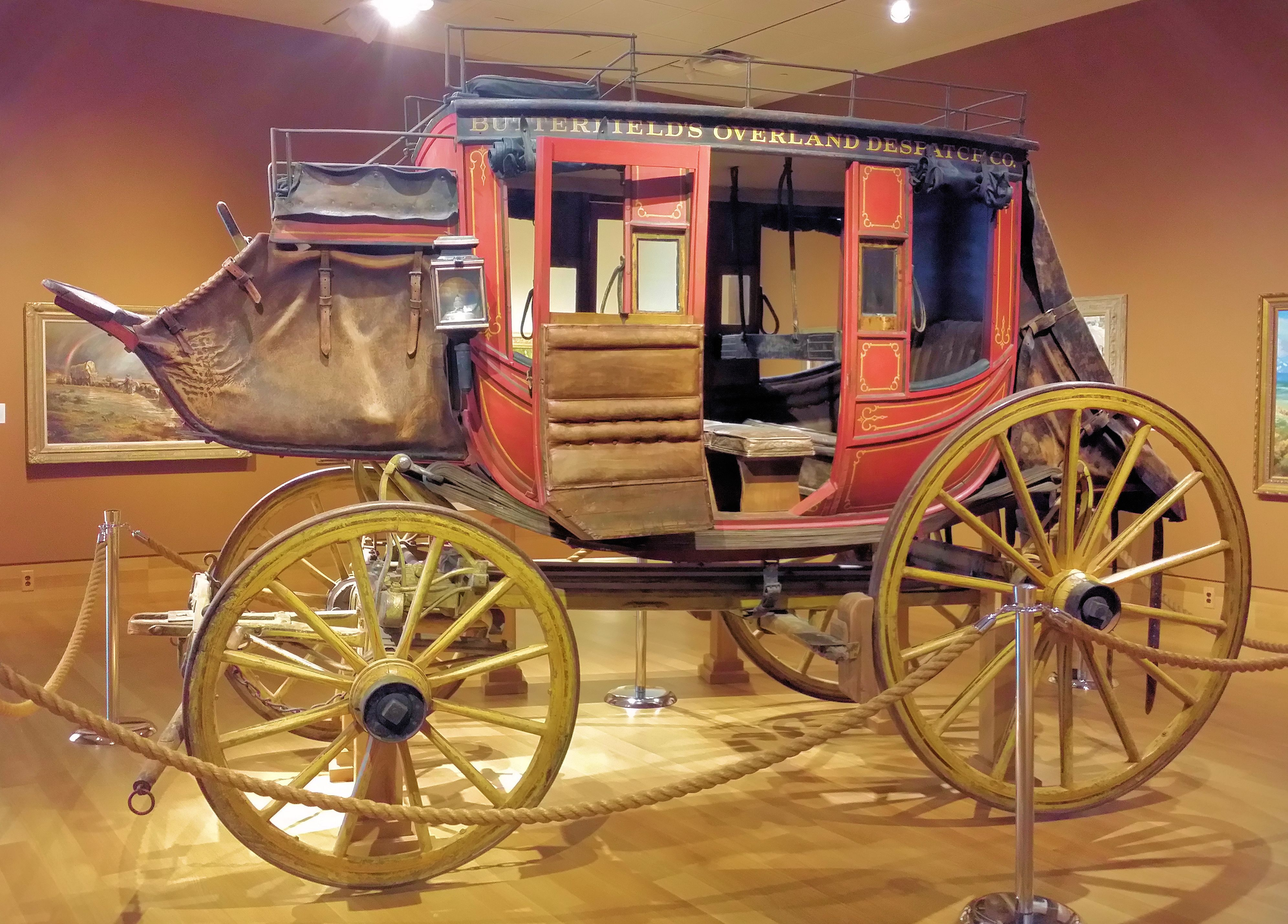 a concord coach used by the butterfield overland despatch company, c