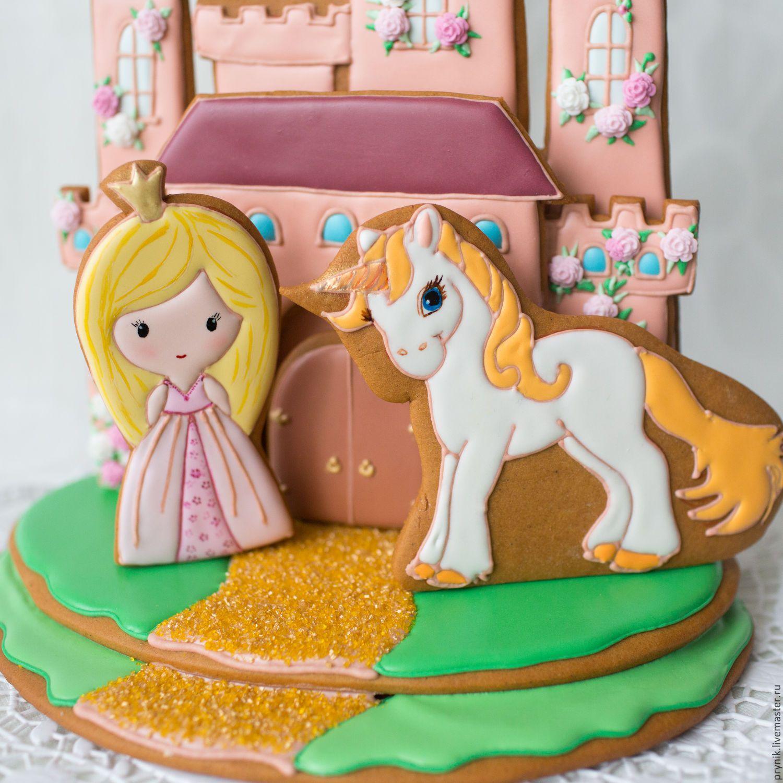 Купить Пряничный замок - замок, принцесса, единорог ...