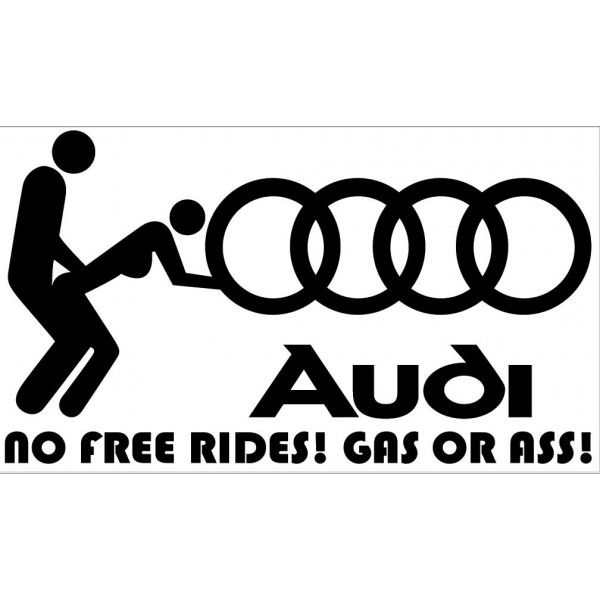 No Free Rides, Gas Or Ass, Funny Car Decal, Auto Sticker