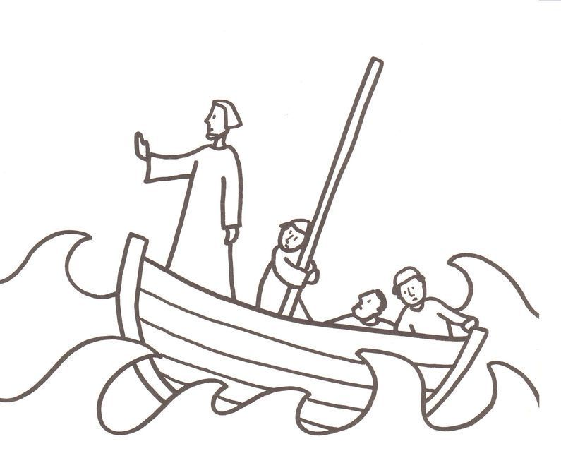 jesus calms the storm coloring page | bible study | Pinterest ...