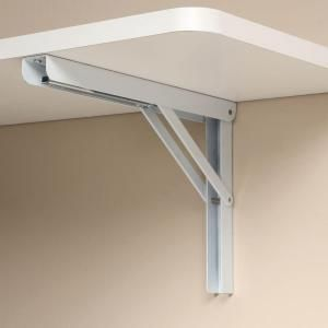 Knape Vogt 12 In Heavy Duty Folding Shelf Bracket In White Hd 206 12wh Folding Shelf Bracket Wall Mounted