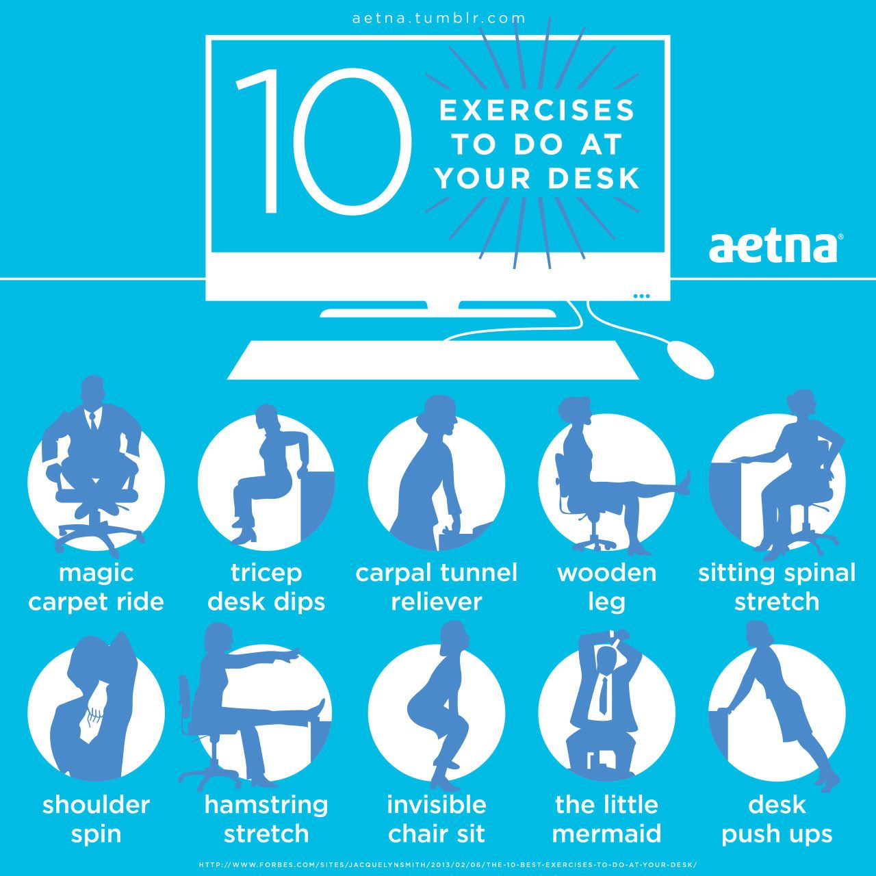 10 Exercises To Do At Your Desk Work Fitness Workout