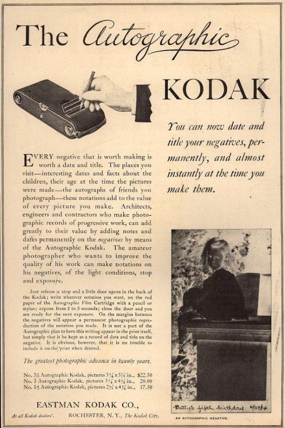 The Autographic Kodak Camera - Lomography