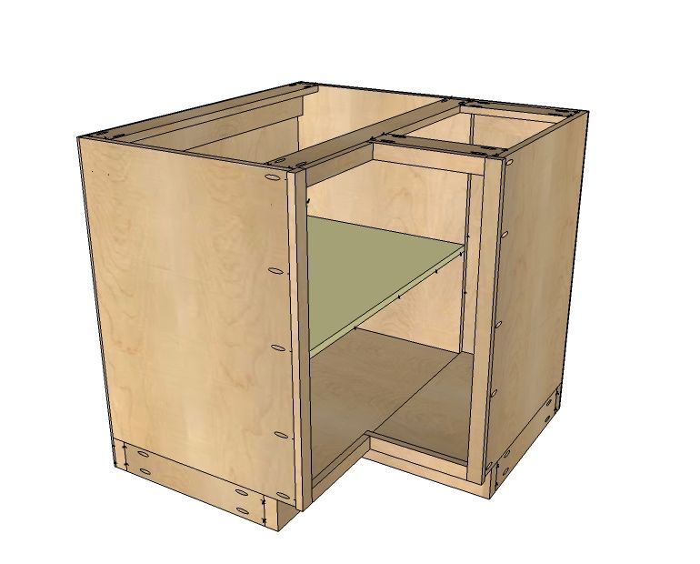 "Build A 36"" Corner Base Easy Reach Kitchen"