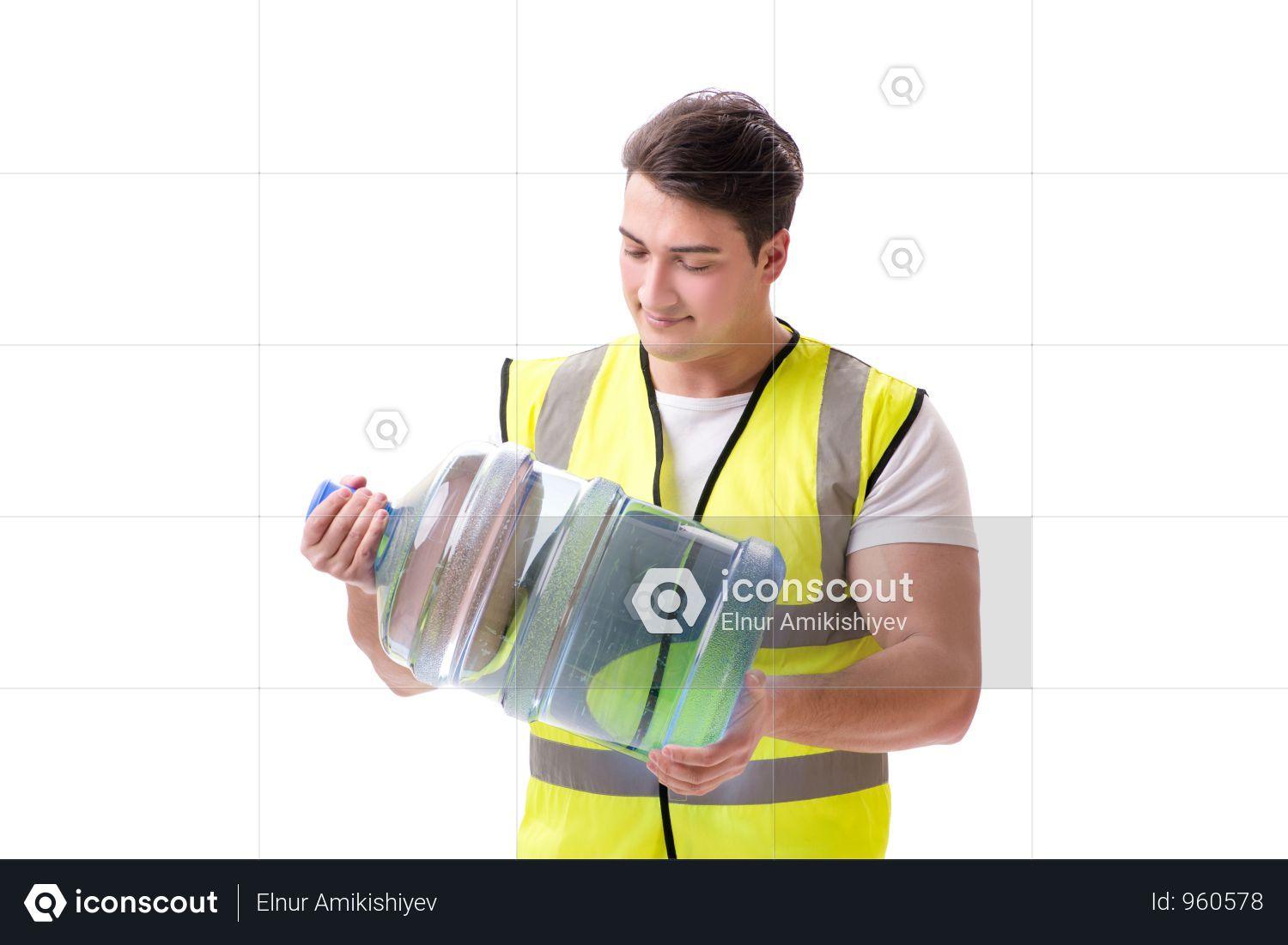 Premium Man Delivering Water Bottle Isolated On White Photo Download In Png Jpg Format Water Bottle Bottle Delivery Photos