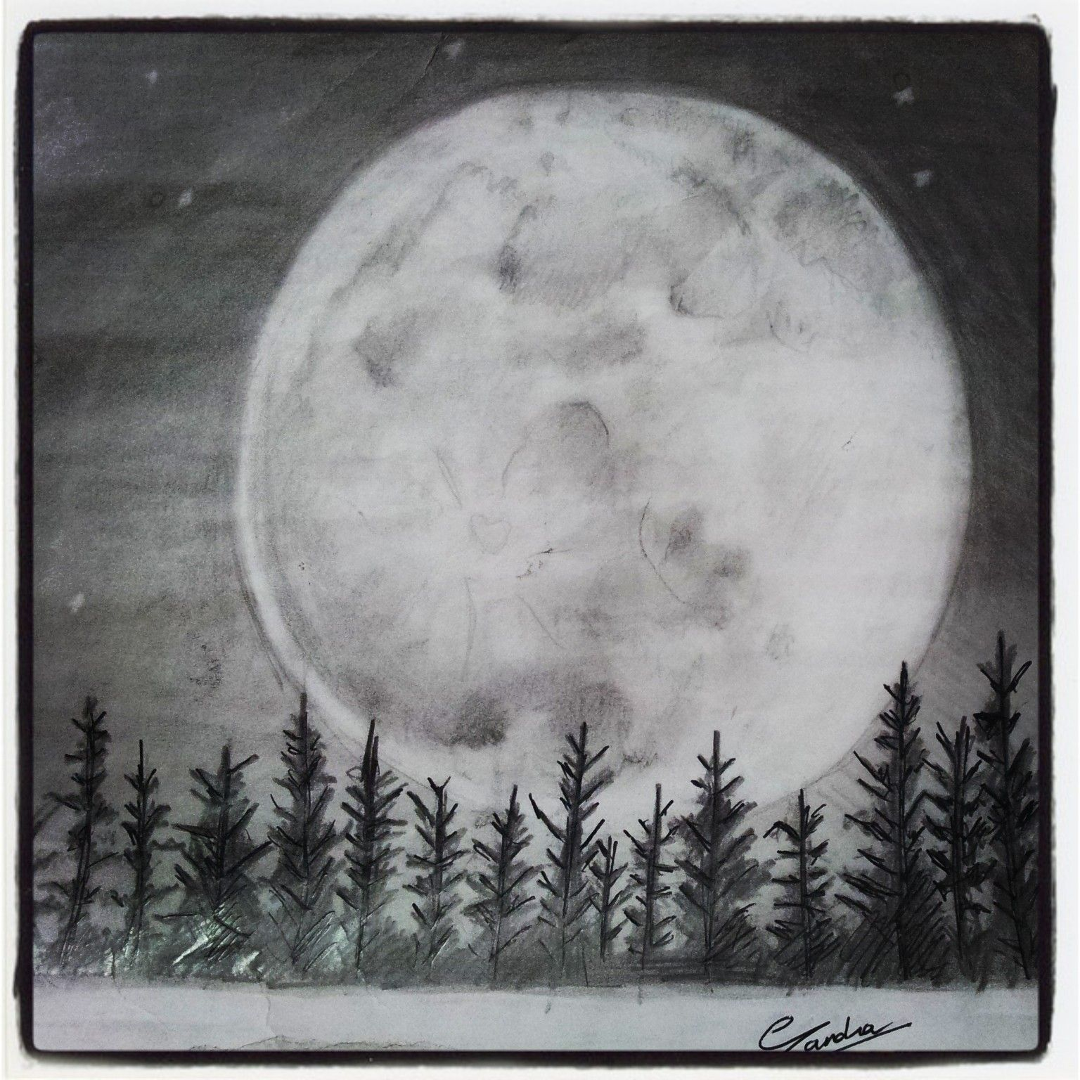 This is a graphic of Unforgettable Drawing The Moon