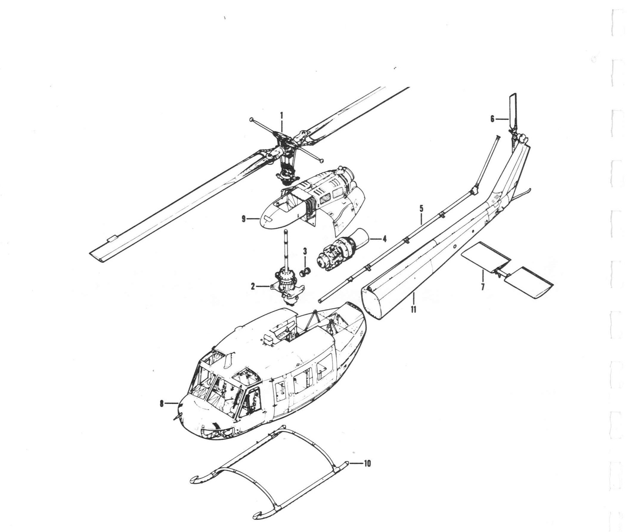 exploded view of helicopter 2