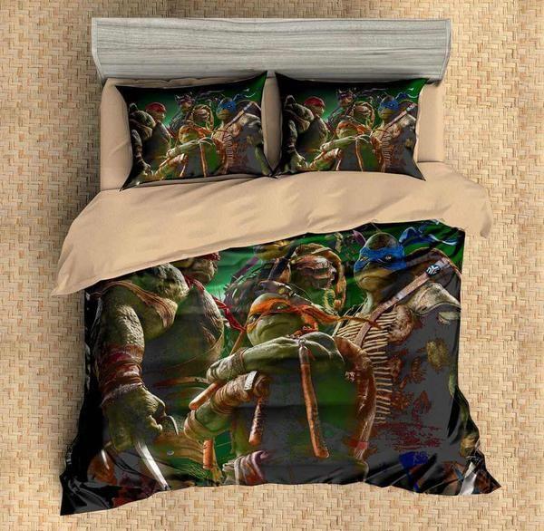 Custom Ninja Turtles Duvet Cover Set 3pcs Bedding Set Bedlinen Sheet Pillowcases Duvet Cover Sets Duvet Covers Bed Linen Sets