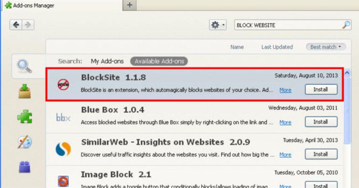 How to block any website on firefox block websites