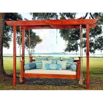 Rosecliff Heights Adonis Elegant Charleston Porch Swing In 2020 Porch Swing Bed Outdoor Bed Swing Porch Swing