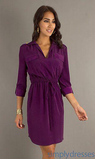 Juniors Purple Short Formal Dresses