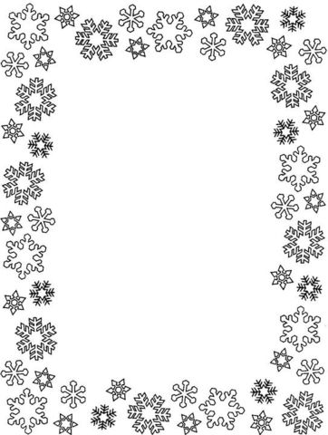 Snowflakes Frame coloring page from Decorations category Select