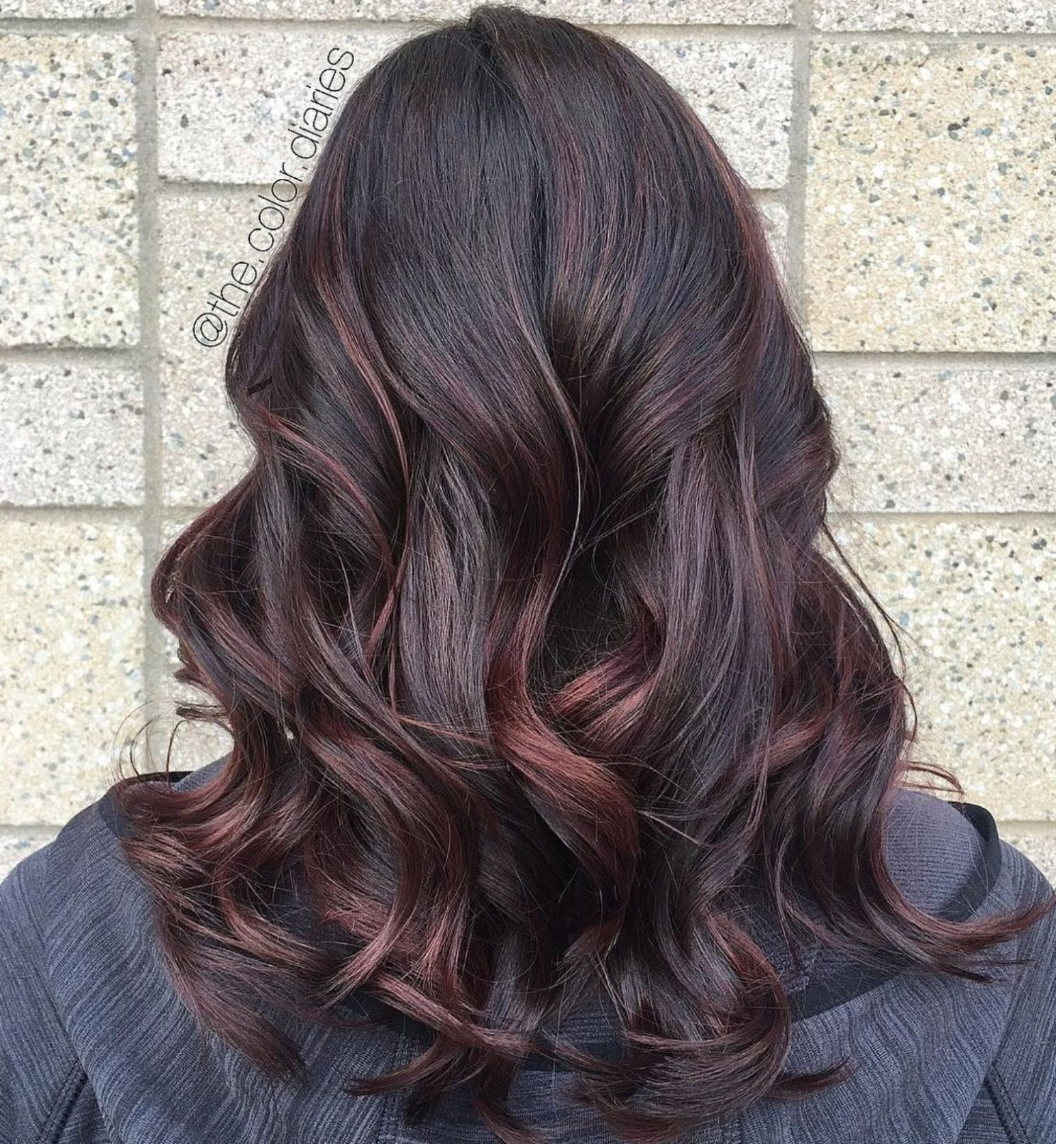 45 Shades Of Burgundy Hair Dark Burgundy Maroon Burgundy With Red Purple And Brown Highlights Red Balayage Hair Burgundy Hair Hair Color Burgundy