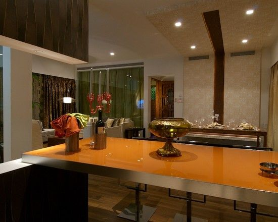 Elegant Stylish Interior With Wooden Material And Lamp Design Mesmerizing Designer Kitchen Tables 2018