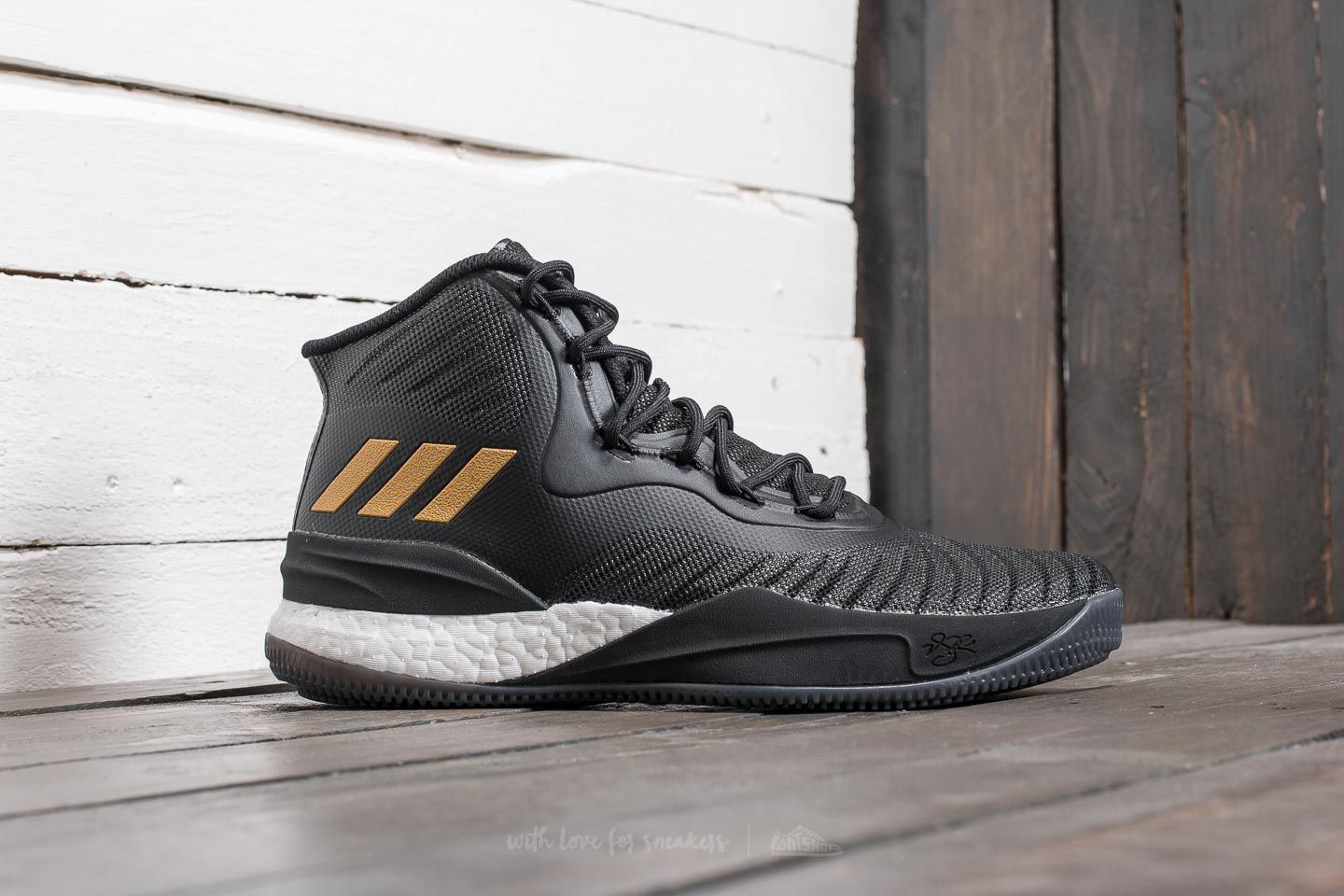 f45786f349ad ... where to buy 657f6 059b4 adidas D Rose 8 Core Black Gold Metalic Ftw  White at ...