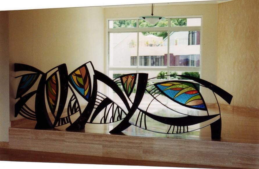 Ornamental Interior stained glass by NUZ at Betsy Frank Gallery # Art # Artforsale