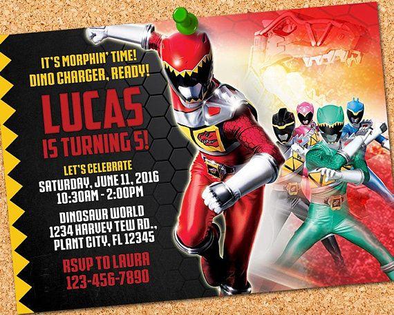 Power Rangers Invitation Power Ranger Birthday Go Go Party