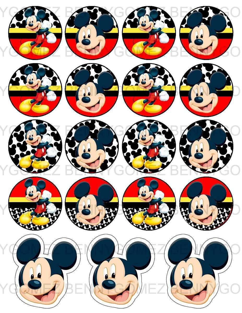 Kit imprimible gratis de Mickey - Imagui | imprimibles | Pinterest ...