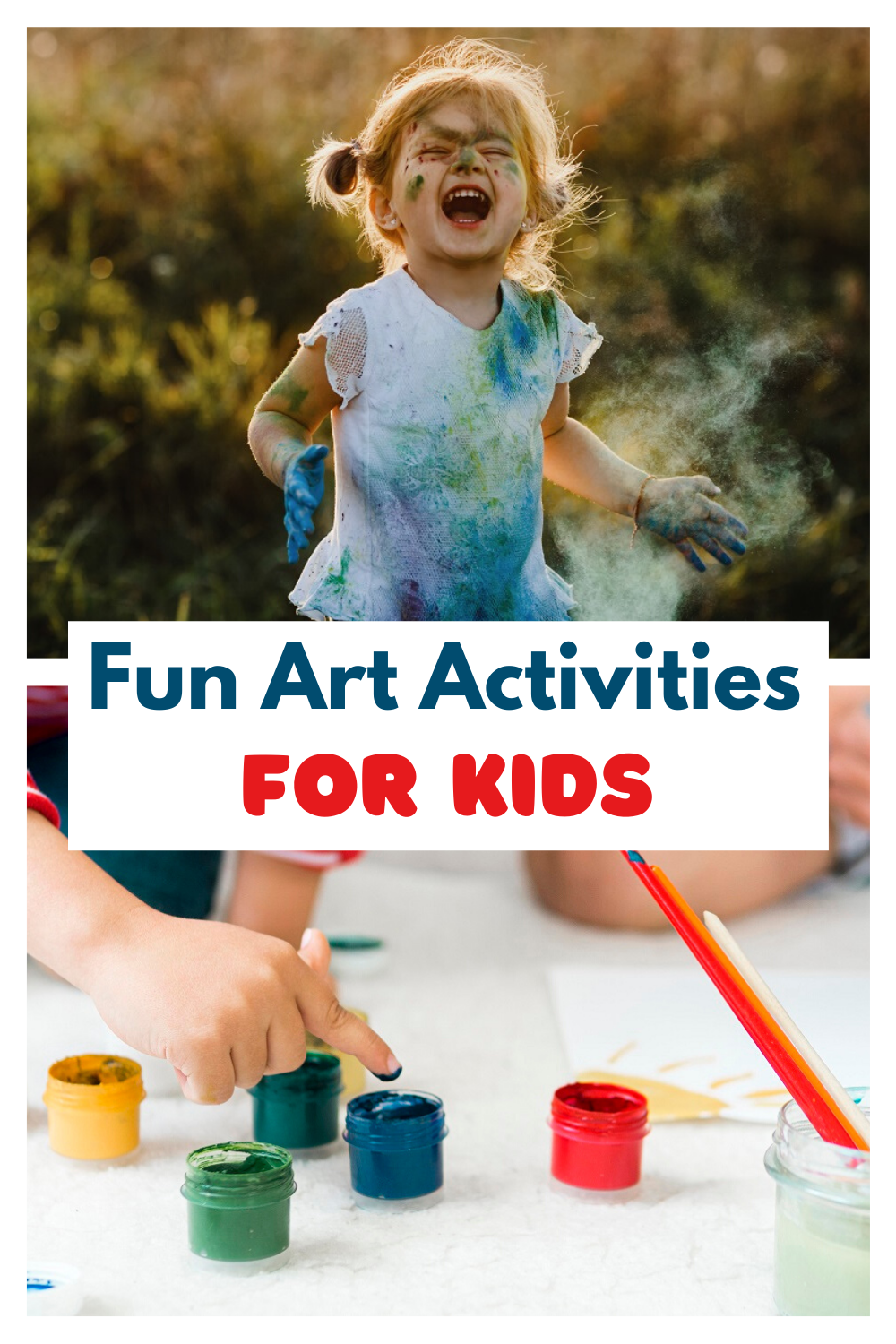 Here are some fun art activities that you can do with your toddler: #diy #diycraft #artproject #arttherapy #kidcraft #kidproject