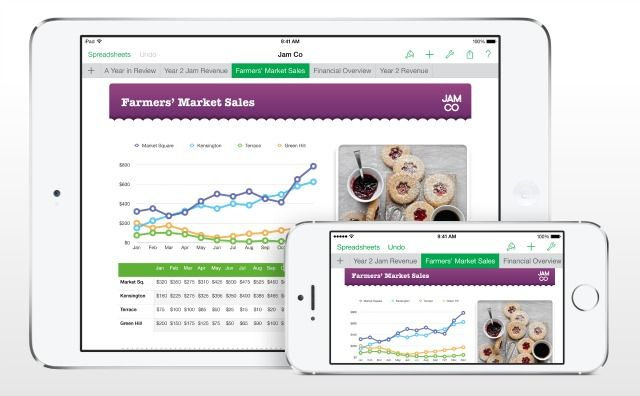 Apple\u0027s iWork for iCloud now lets you collaborate on projects with - spreadsheet software for apple mac