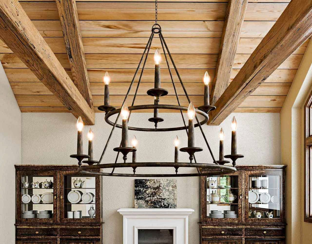 62 Favourite Farmhouse Living Room Lighting Ideas Decor