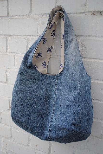 un autre sac en jean avec le tuto tutoriel sac tote pinterest sac en jean les tuto et. Black Bedroom Furniture Sets. Home Design Ideas