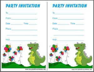 photograph regarding Dinosaur Party Invitations Free Printable named Printable Dinosaur Birthday Invites inside of 2019 Dinosaur