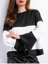 SHARE & Get it FREE | Color Spliced Bell Sleeves T-ShirtFor Fashion Lovers only:80,000+ Items • New Arrivals Daily • Affordable Casual to Chic for Every Occasion Join Sammydress: Get YOUR $50 NOW!