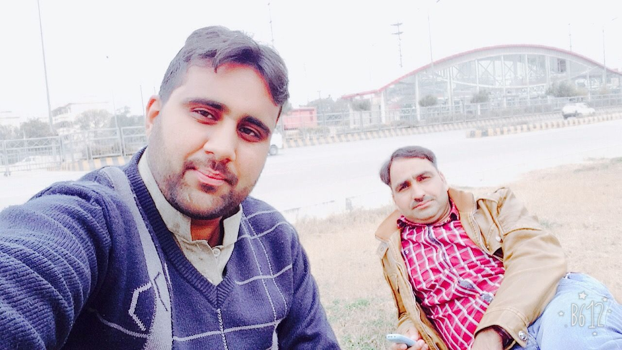 Naheem and Me were just sitting at PMS Station Islamabad