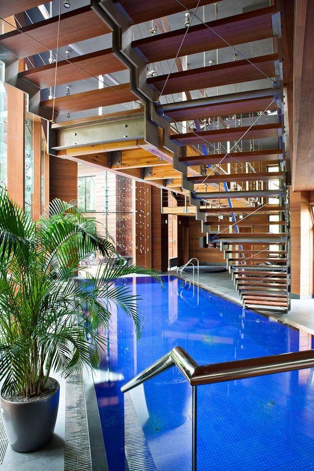 Cabana luxuosa no frio da floresta design residential - Residencia de manila swimming pool ...
