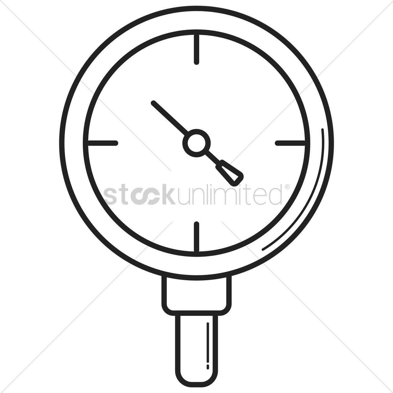 Pressure gauge stock vector