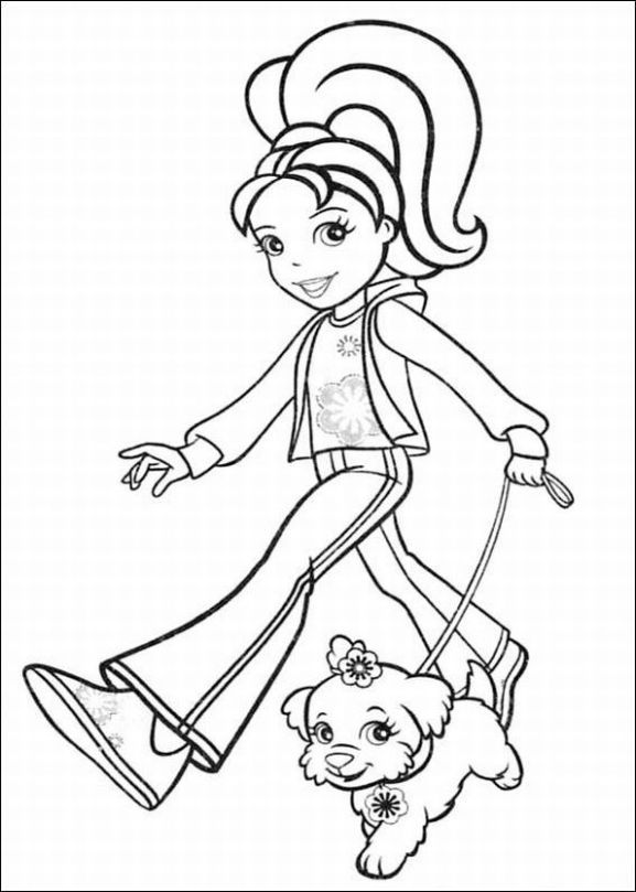 Captivating Polly Pocket Coloring Pages