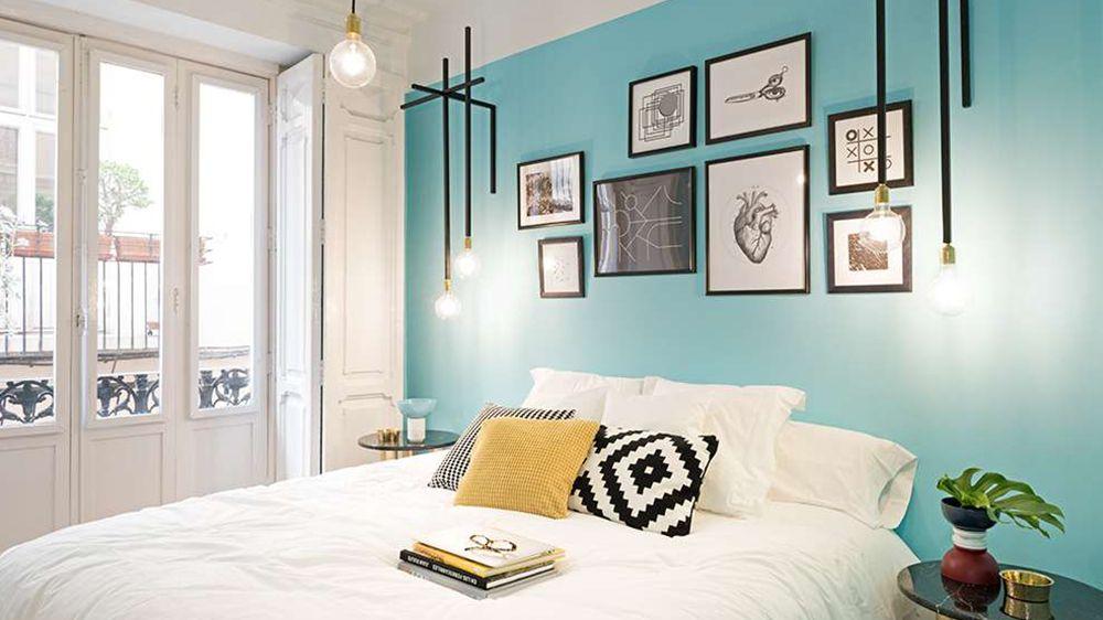 Du bleu pour une chambre apaisante murs bleus mur et bleu