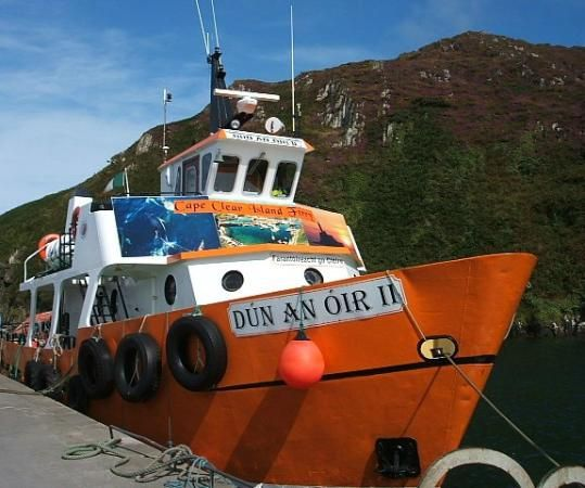 """""""Dun an Oir ii"""". The boat between Cape Clear Island and Baltimore is named after the old O'Driscolls castle, the 'Fort of Gold'."""
