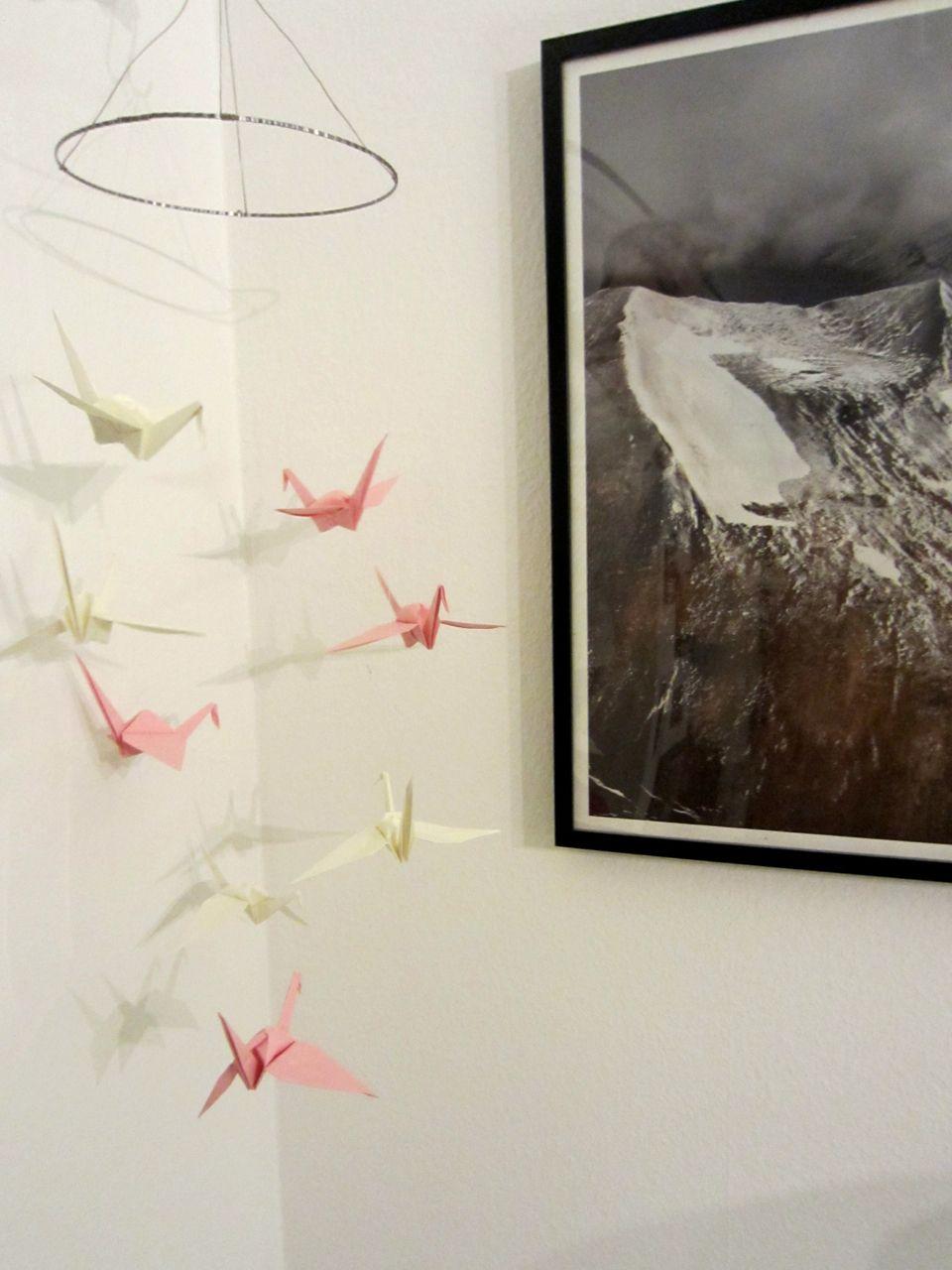 origami kraniche mobile basteln b a s t e l n pinterest origami. Black Bedroom Furniture Sets. Home Design Ideas