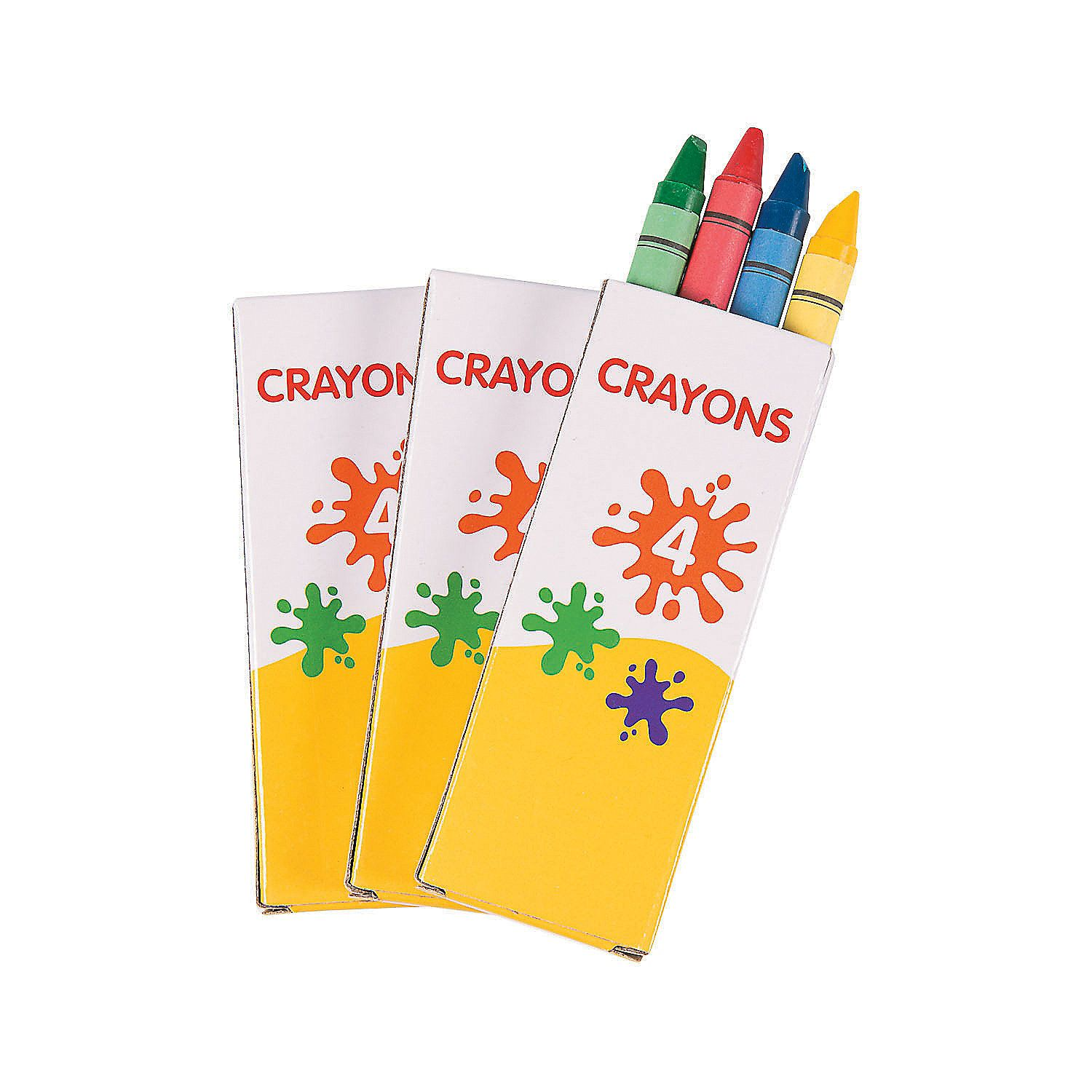4 Color Crayons 12 Boxes Orientaltrading