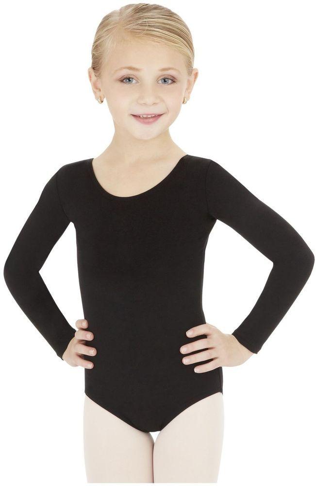 8817f6fcf Long-Sleeve Leotard Ballet Gymnatics Capezio Toddler Classics Black ...