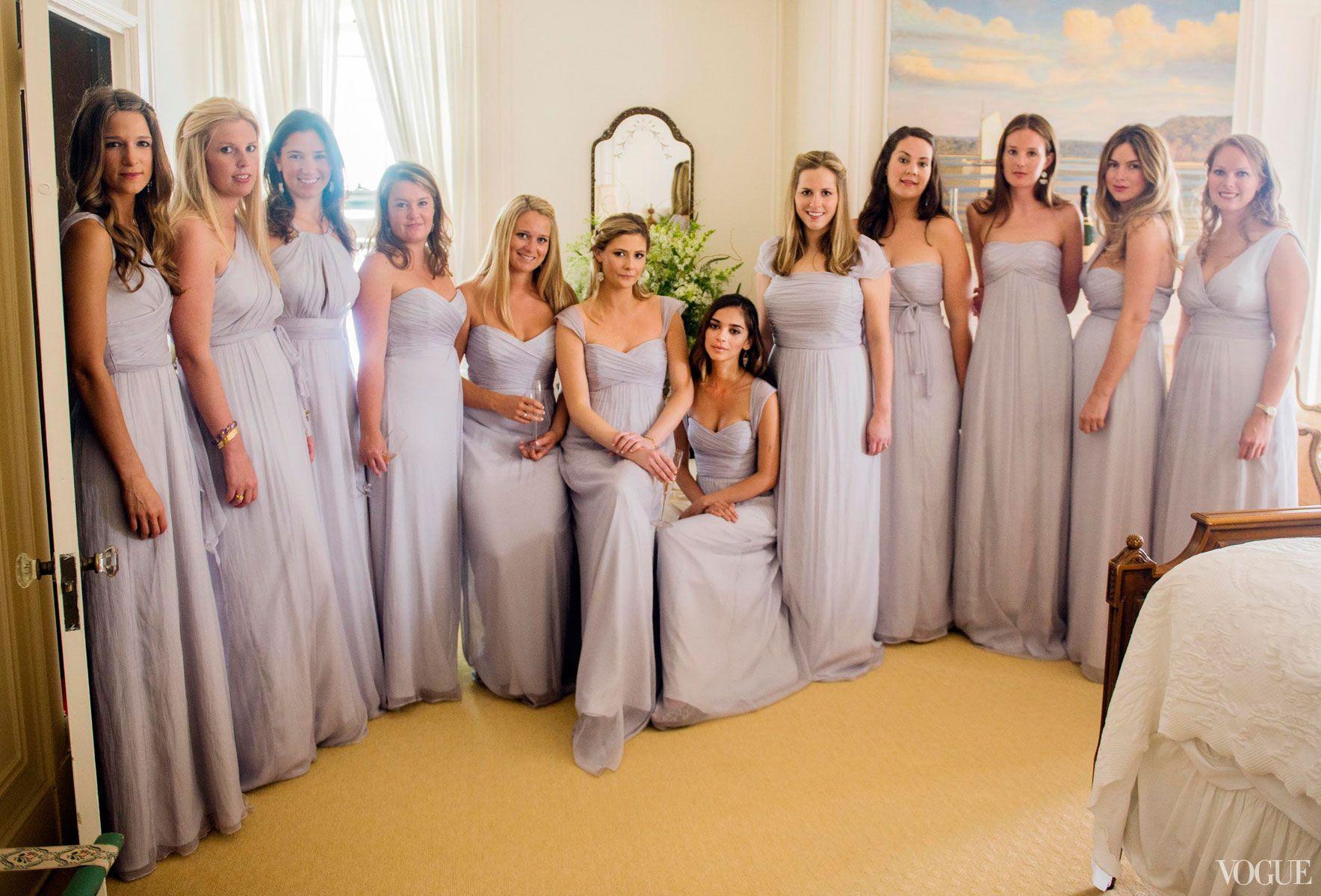 My bridesmaids wore dove gray floor length dresses in varying my bridesmaids wore dove gray floor length dresses in varying styles the color felt ombrellifo Choice Image