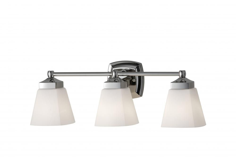 Three Light Polished Nickel White Opal Etched Gl Vanity Jmyy Hansen Lighting