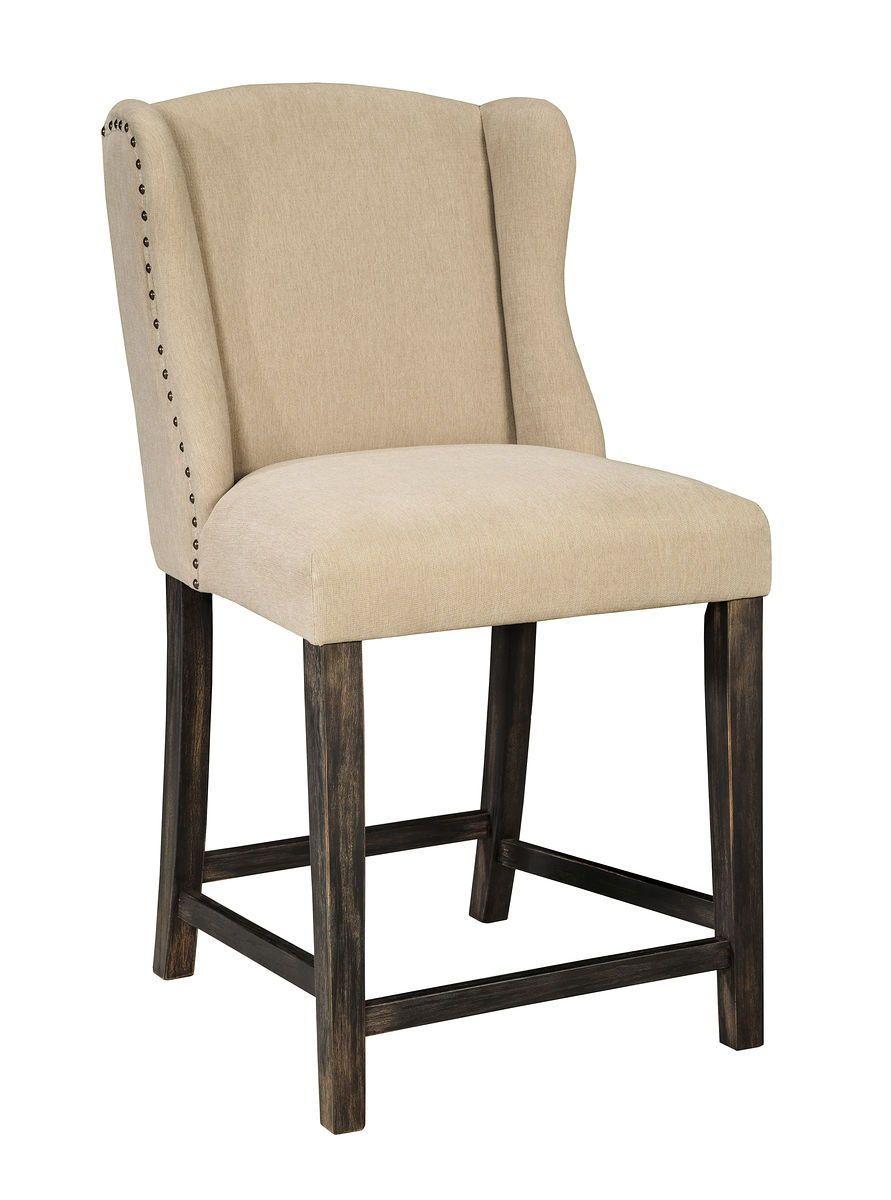 Moriann Light Beige Upholstered Barstool 2 Cn Jr Furniture Mattress Bar Stools Upholstered Bar Stools Furniture