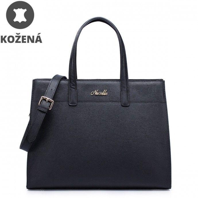 ffac07cbab Kožená kabelka Nucelle Kimberly - čierna - JEJ.sk