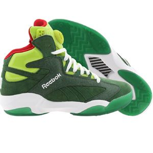 ae4f8eab7c5b94 Reebok Men Shaq Attaq - Ghost Of Christmas Present (green   racing green    sonic