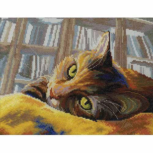 Mosaic Kitten ~ Cats ~ Counted Cross Stitch Pattern