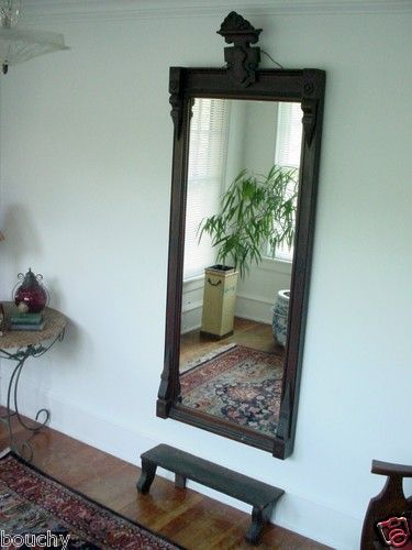 Great Large Antique Walnut Victorian Eastlake Hall Entry