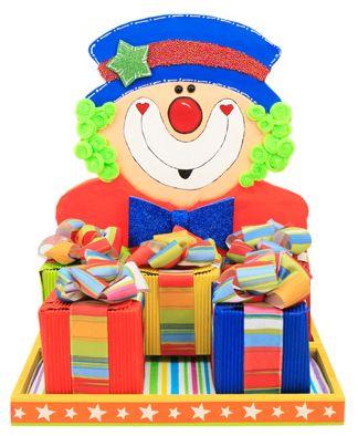 Dulceros para fiestas infantiles payaso para centro de for Decoraciones infantiles para ninos